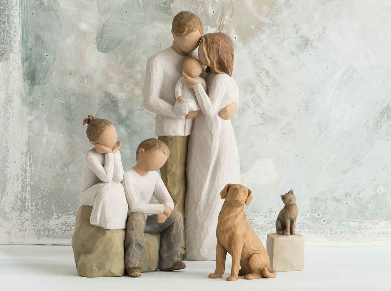 Willow Tree Family Grouping Carved Figures By Susan Lordi