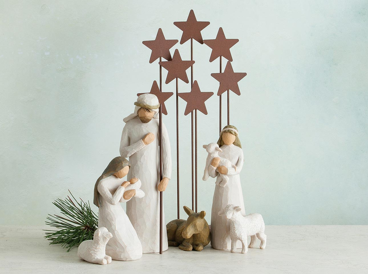 Christmas Nativity.Nativity Set Displays Hand Sculpted Figures Willow Tree