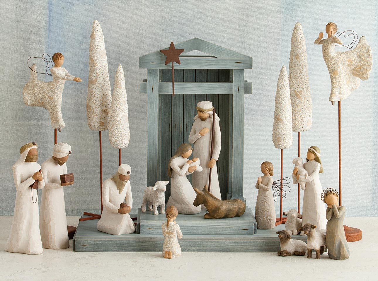 Willow Tree Nativity Deluxe Starter Plus The Three Wise Men and Camel 14-Piece Set