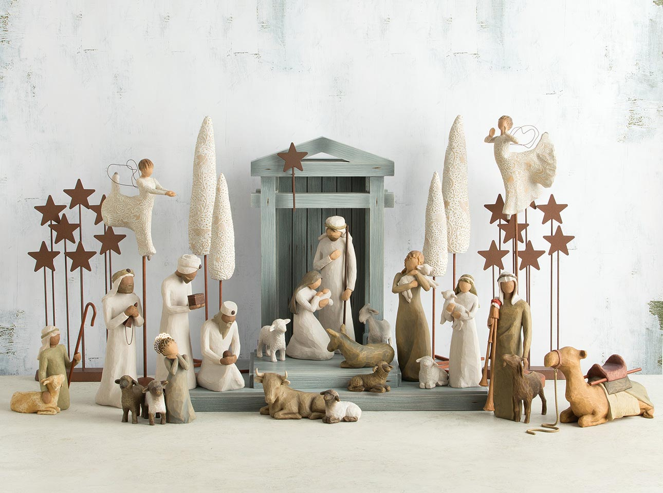 Hand Sculpted Nativity Sets Nativity Figurines Willow Tree