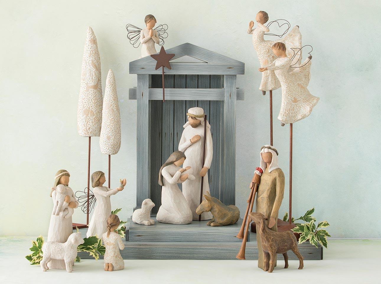 NEW Willow Tree Christmas Story Nativity Set Little Shepherdess /& Two Lambs