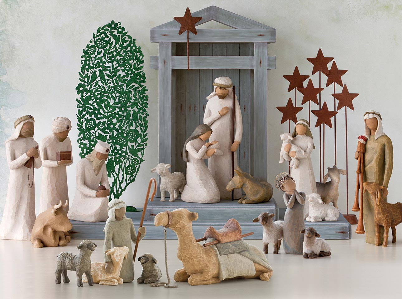 Nativity Set Displays | Hand-Sculpted Figures | Willow Tree on christmas plans, train plans, halloween plans, temple plans, sheep plans, outdoor wooden manger plans, birth plans, church plans, life plans, marriage plans, sleigh plans,